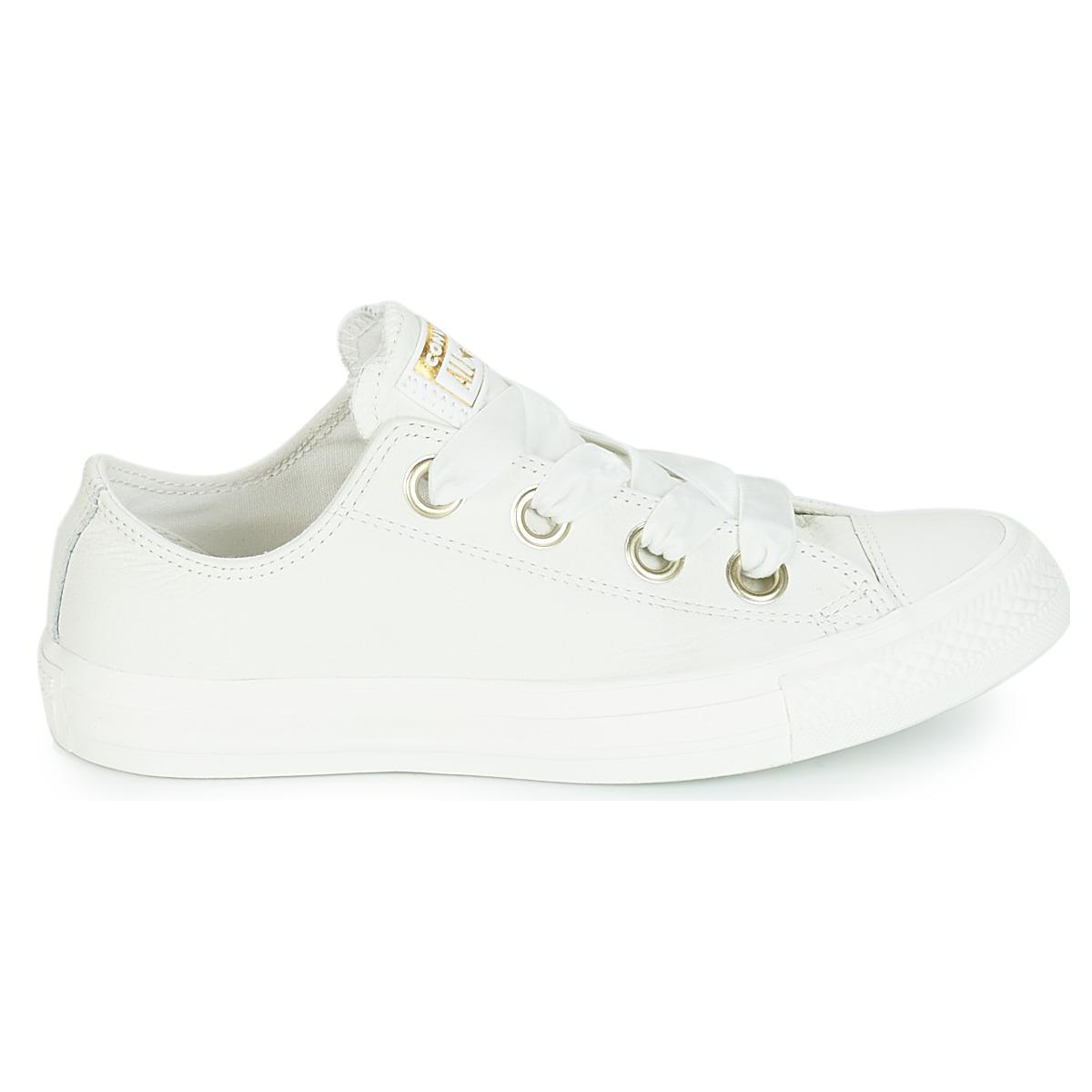 59d34ce71ff7 Converse All Star Big Eyelets Ox Women s Shoes (trainers) In White ...