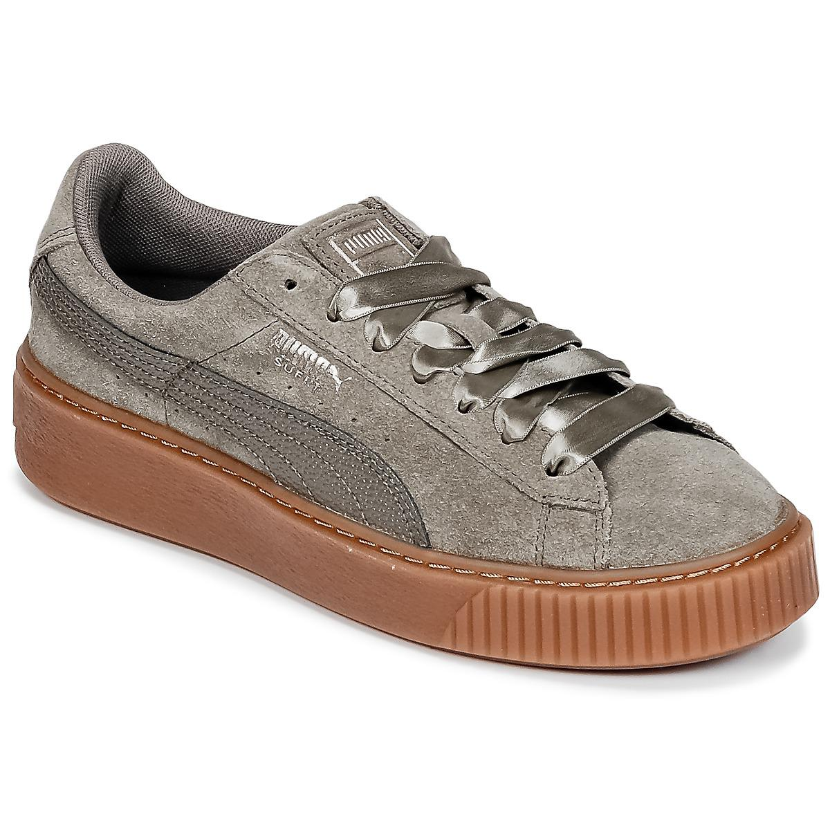 sports shoes b6c6e 13db9 PUMA Suede Platform Bubble W s Shoes (trainers) in Gray - Lyst