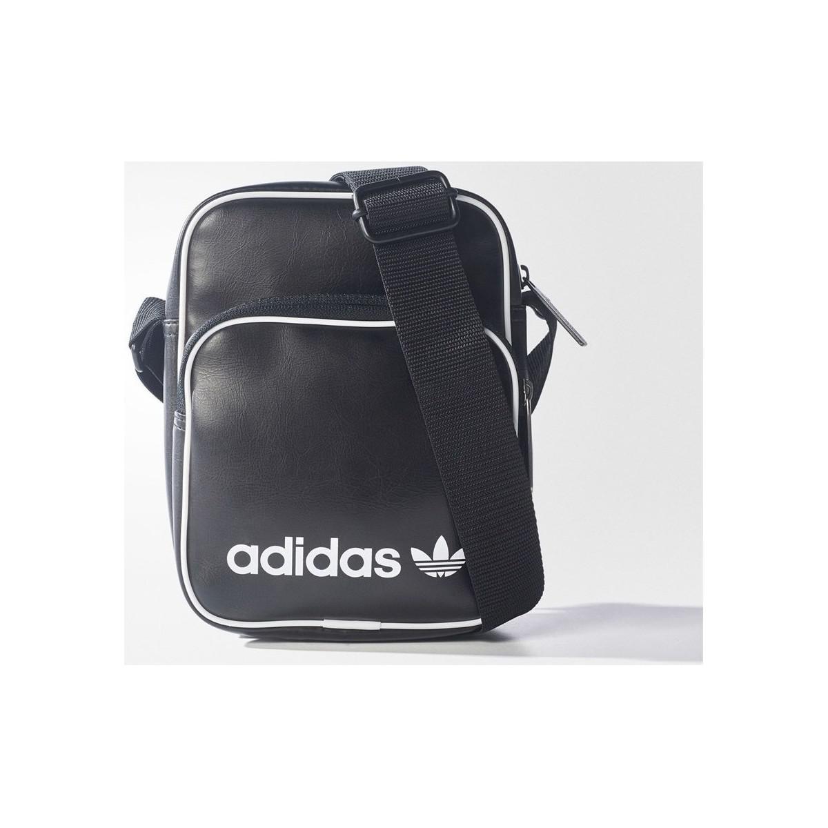 adidas Originals Mini Vintage Bag Men s Messenger Bag In Black in ... f21c2e58b9