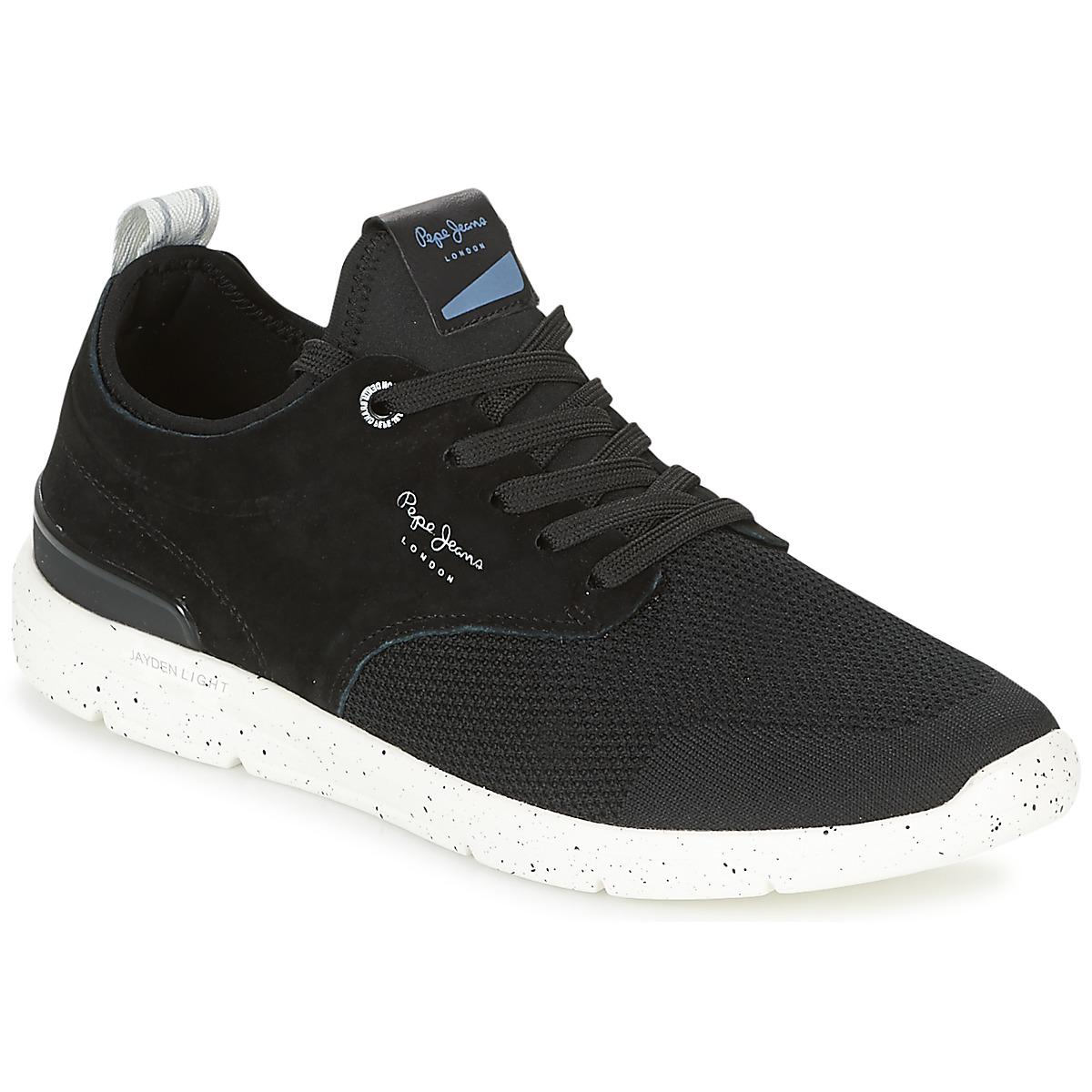 Mens Tinker Pro 120 Knitted Trainers, Black Pepe Jeans London