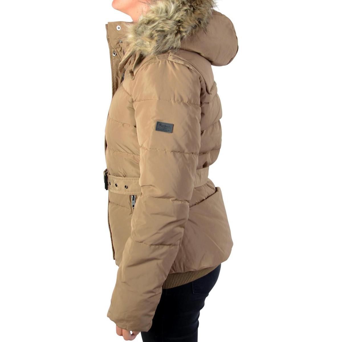 3f2383517f01 Pepe Jeans Jacket Claris Pl401256 Camel 855 Women s Jacket In Brown ...