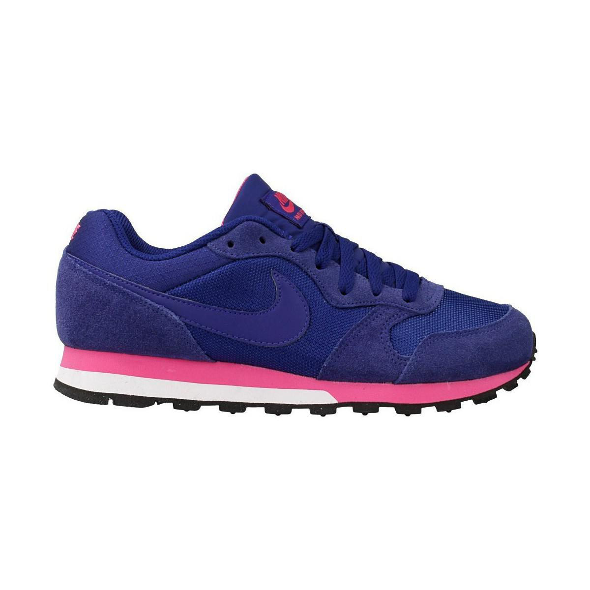 buy online 540cd 7bc21 Nike - Md Runner Women s Shoes (trainers) In Pink - Lyst. View fullscreen