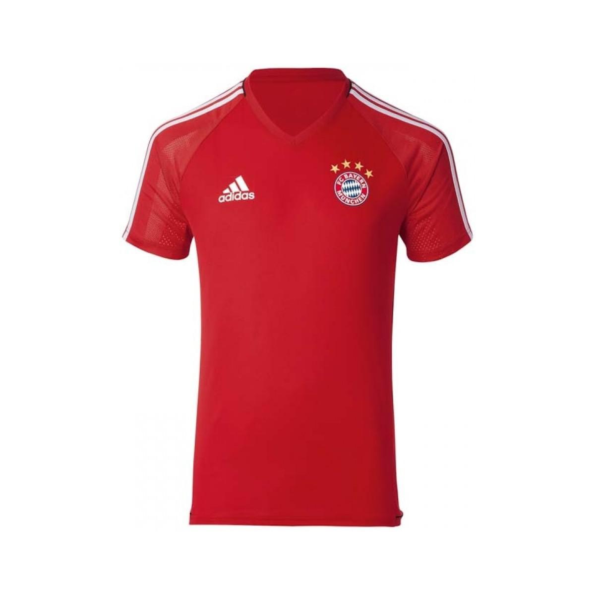 3e4f948ceba Adidas - 2017-2018 Bayern Munich Training Shirt Women's T Shirt In Red for  Men. View fullscreen