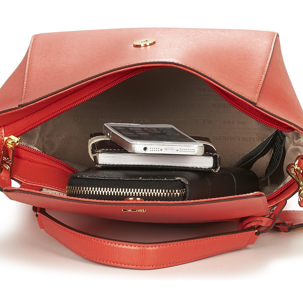 12fc5ffc0ab8 Ralph Lauren Newbury Barclay Crossbody Women s Handbags In Red in ...