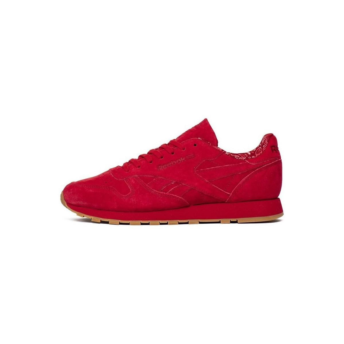 Reebok Classic Leather Paisley Pack Men s Shoes (trainers) In Red in ... f51b24c90