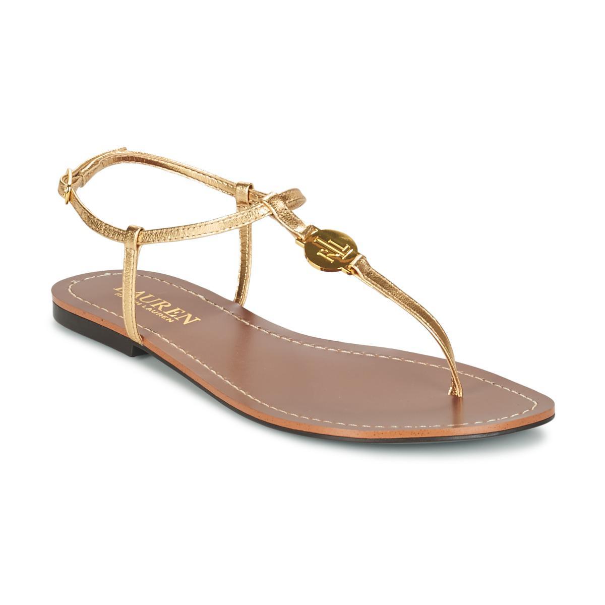 f460c4d30688 Ralph Lauren Aimon Women s Sandals In Gold in Metallic - Lyst