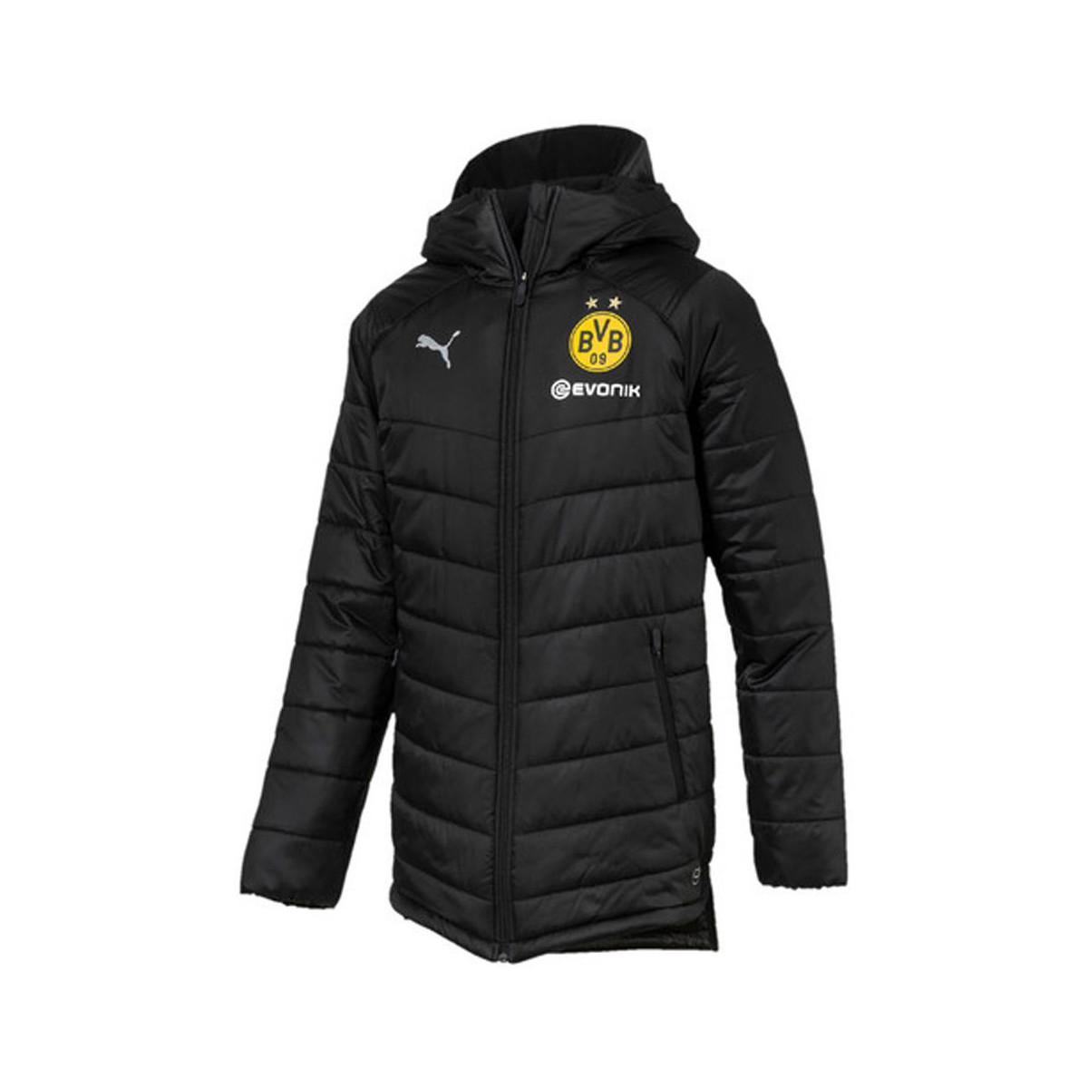 b7b8d3f209ec PUMA 2018-2019 Borussia Dortmund Bench Jacket Men s Jacket In Black ...