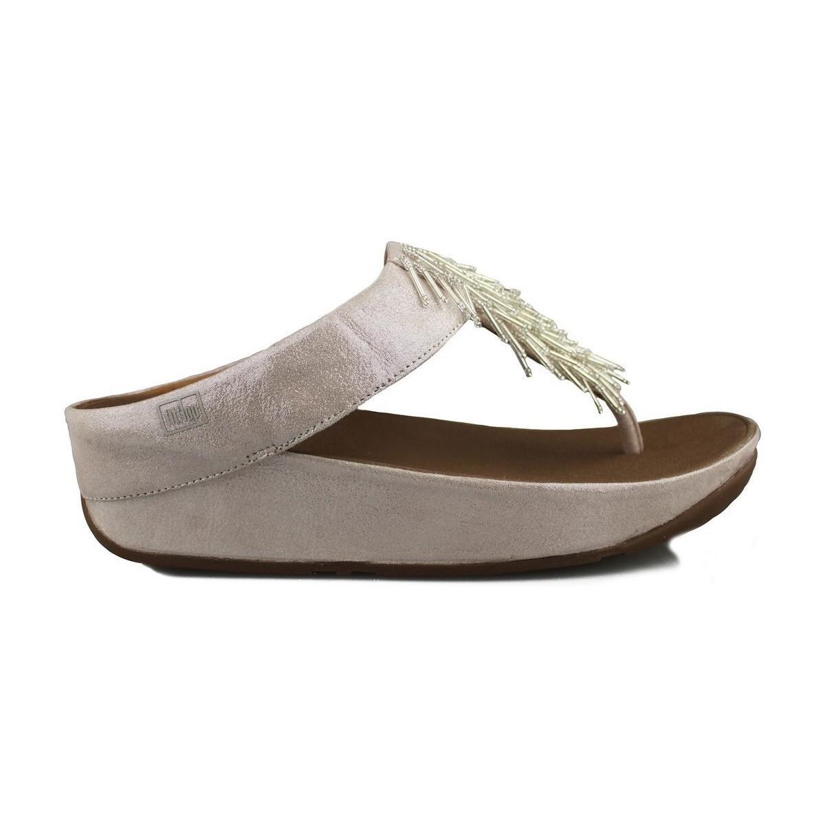 85d64384ffbf Fitflop - Cha Cha Women s Flip Flops   Sandals (shoes) In Pink - Lyst. View  fullscreen