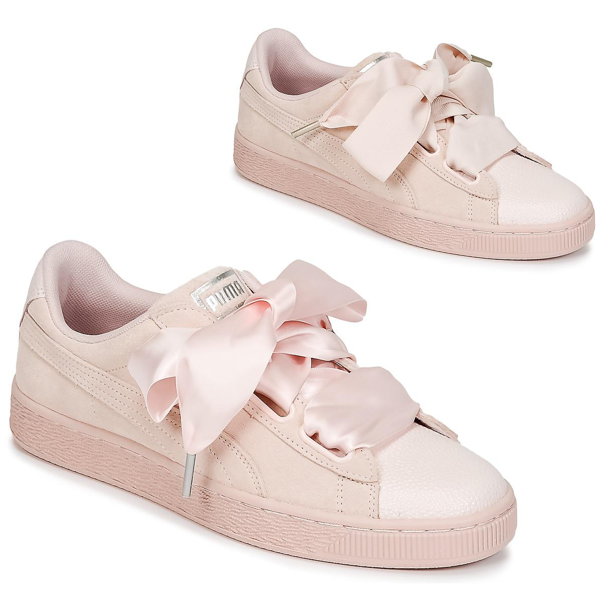 4c358bf9504c64 PUMA Suede Heart Bubble W s Women s Shoes (trainers) In Pink in Pink ...