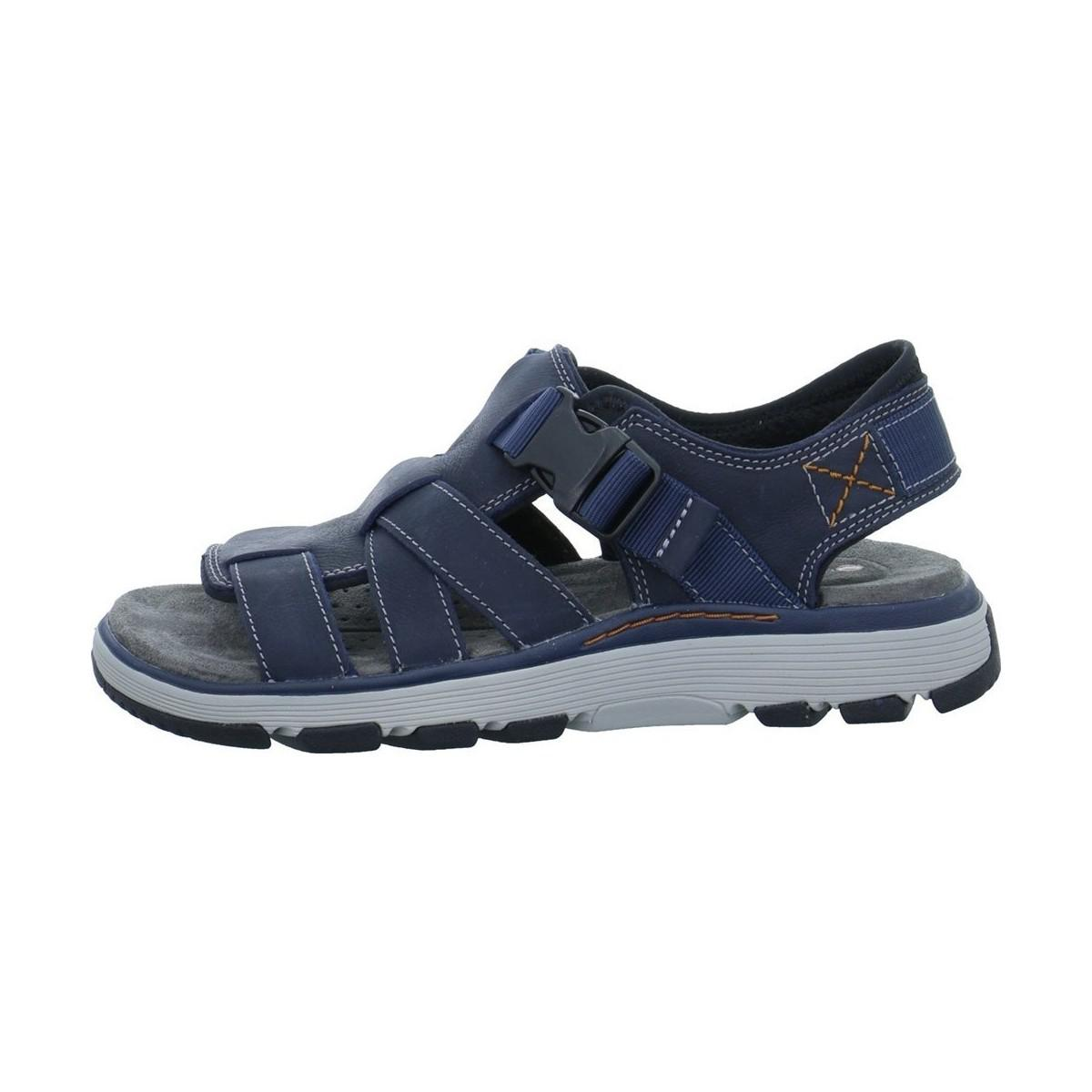 04e55eb91546 Clarks Un Trek Cove Men s Sandals In Blue in Blue for Men - Lyst