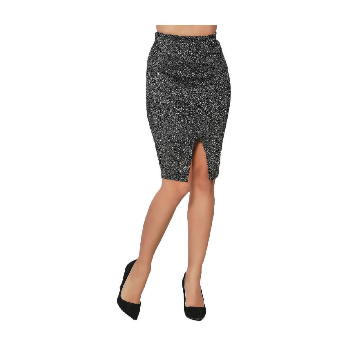 infinie silver pencil skirt 00w061547 s