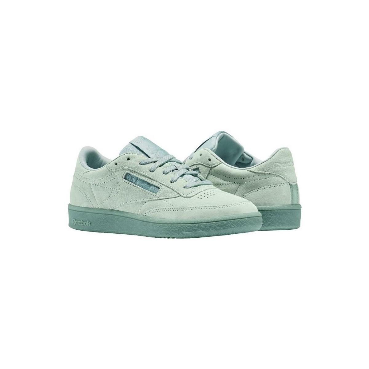 f73dcd28d6a1 Reebok - Green Club C 85 Lace Women s Shoes (trainers) In Multicolour -  Lyst. View fullscreen