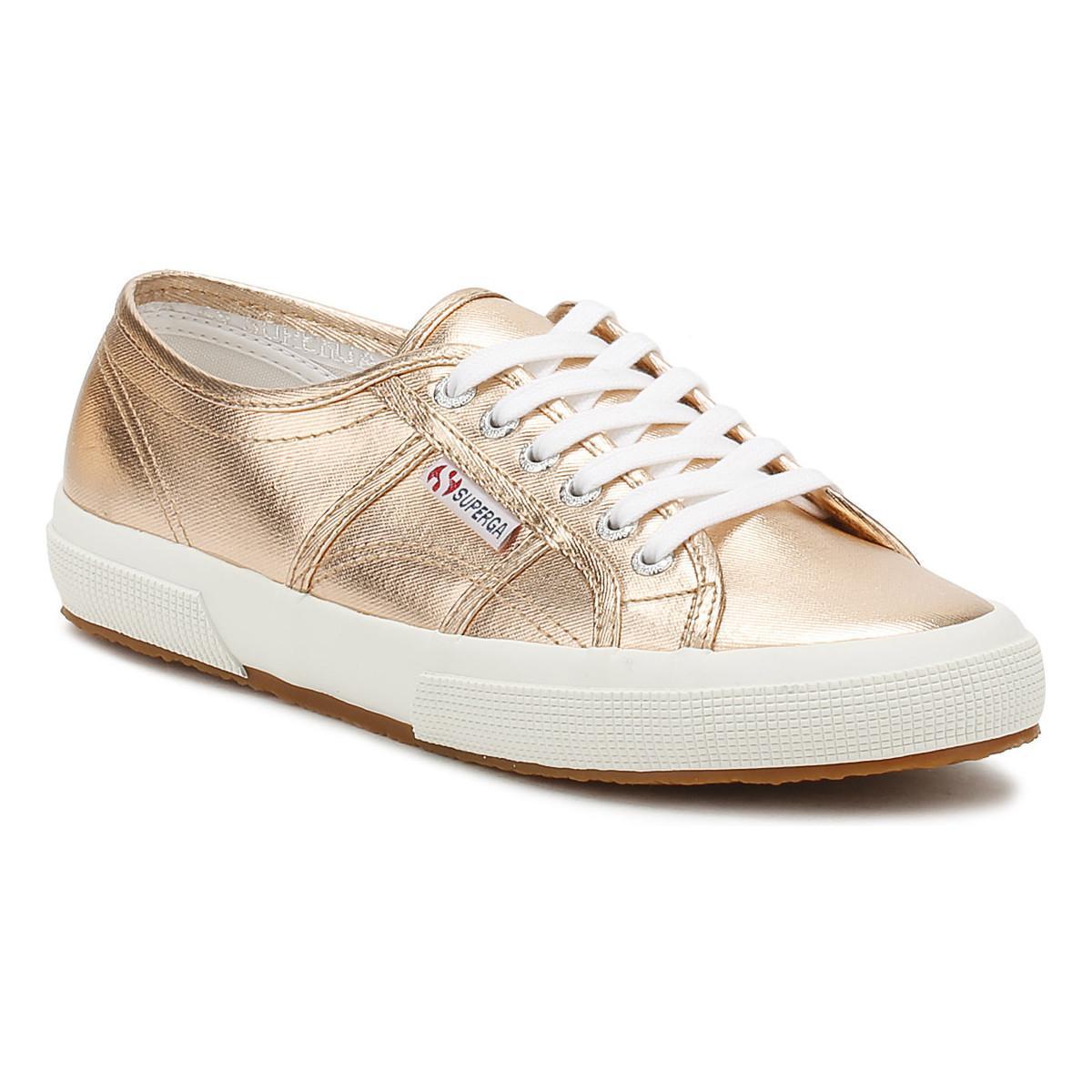 392b893dfd04 Superga - Metallic Womens Rose Gold 2750 Cotmetu Trainers Women s Shoes  (trainers) In Gold. View fullscreen