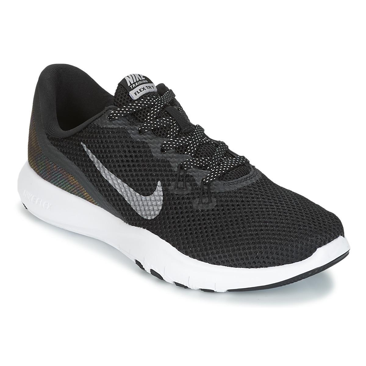 1da4f3b8aa37a Nike Flex Trainer 7 Metallic W Women s Trainers In Black in Black - Lyst
