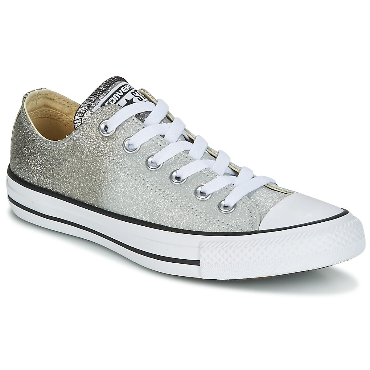 f70a18b4d59520 Converse. Women s Gray Chuck Taylor All Star Ox Ombre Metallic Shoes ( trainers)