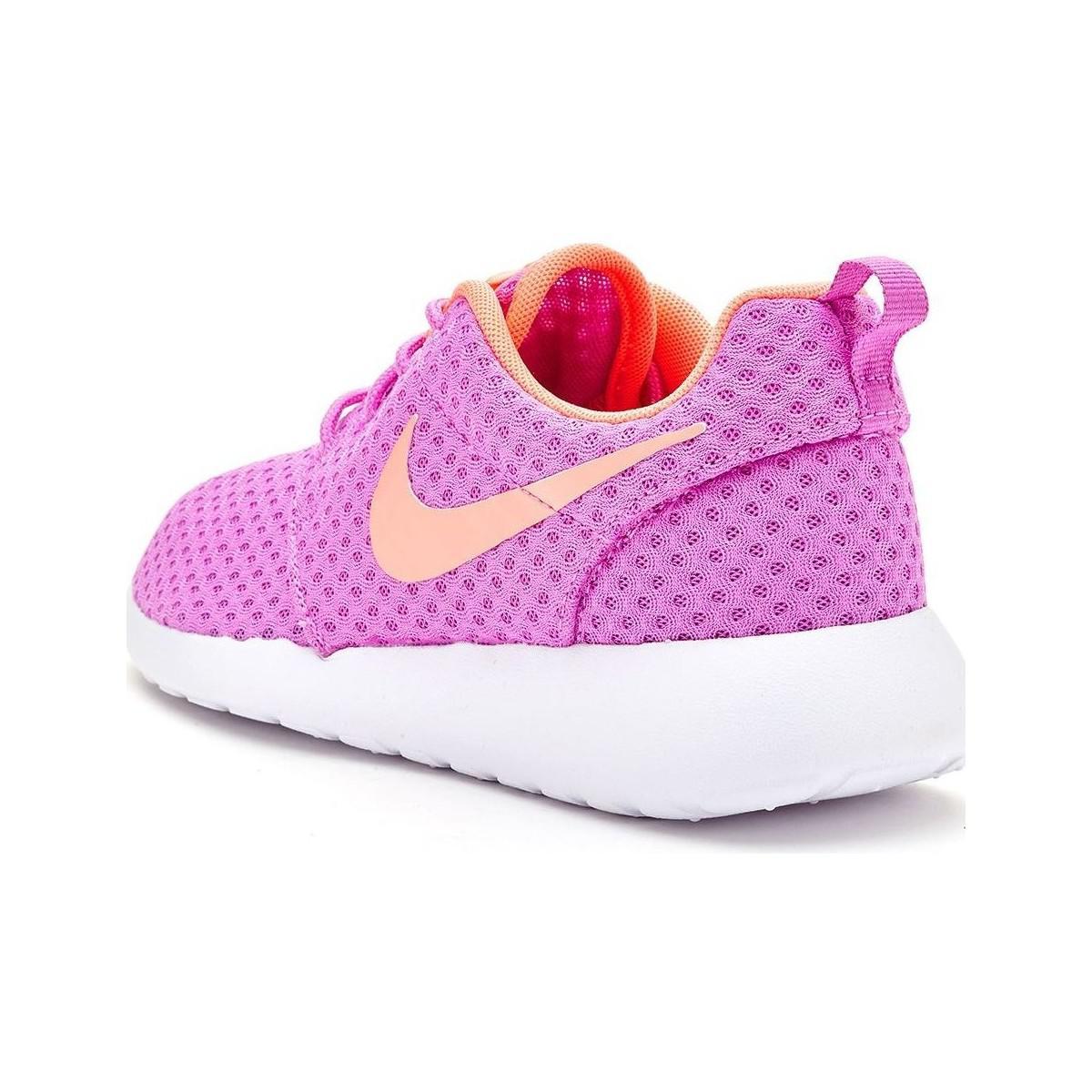 fc4df607a728 Nike Roshe Run One Br Women Trainers In Fuchsia Glow Lava Glow 724 ...