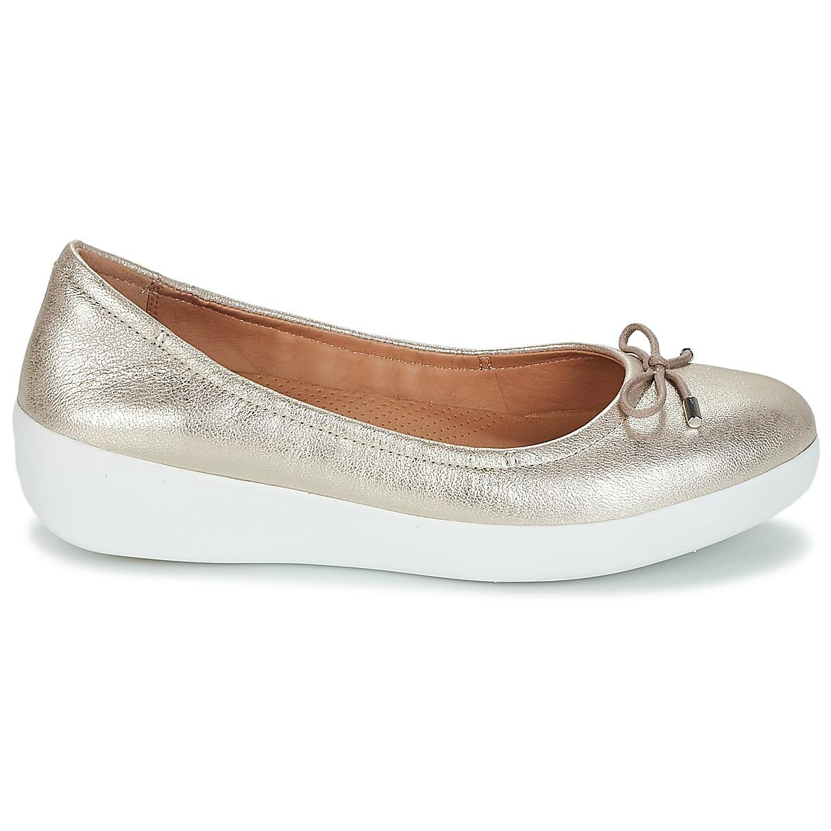 fd9c6fa6872 Fitflop - Metallic Superbendy Ballerinas Women s Shoes (pumps   Ballerinas)  In Silver - Lyst. View fullscreen