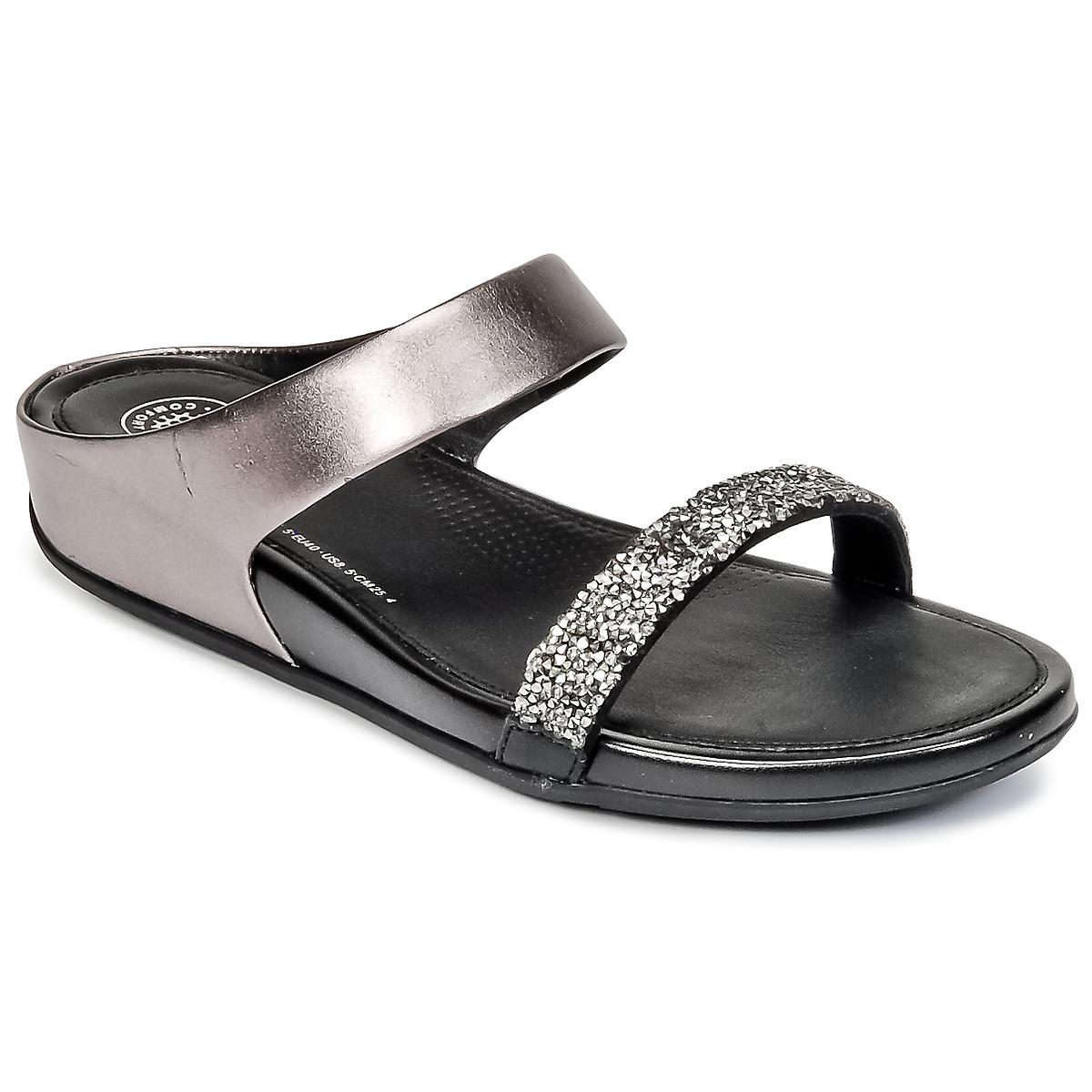 49d251e340c6ed Fitflop Banda Roxy Slide Women s Sandals In Silver in Metallic - Lyst