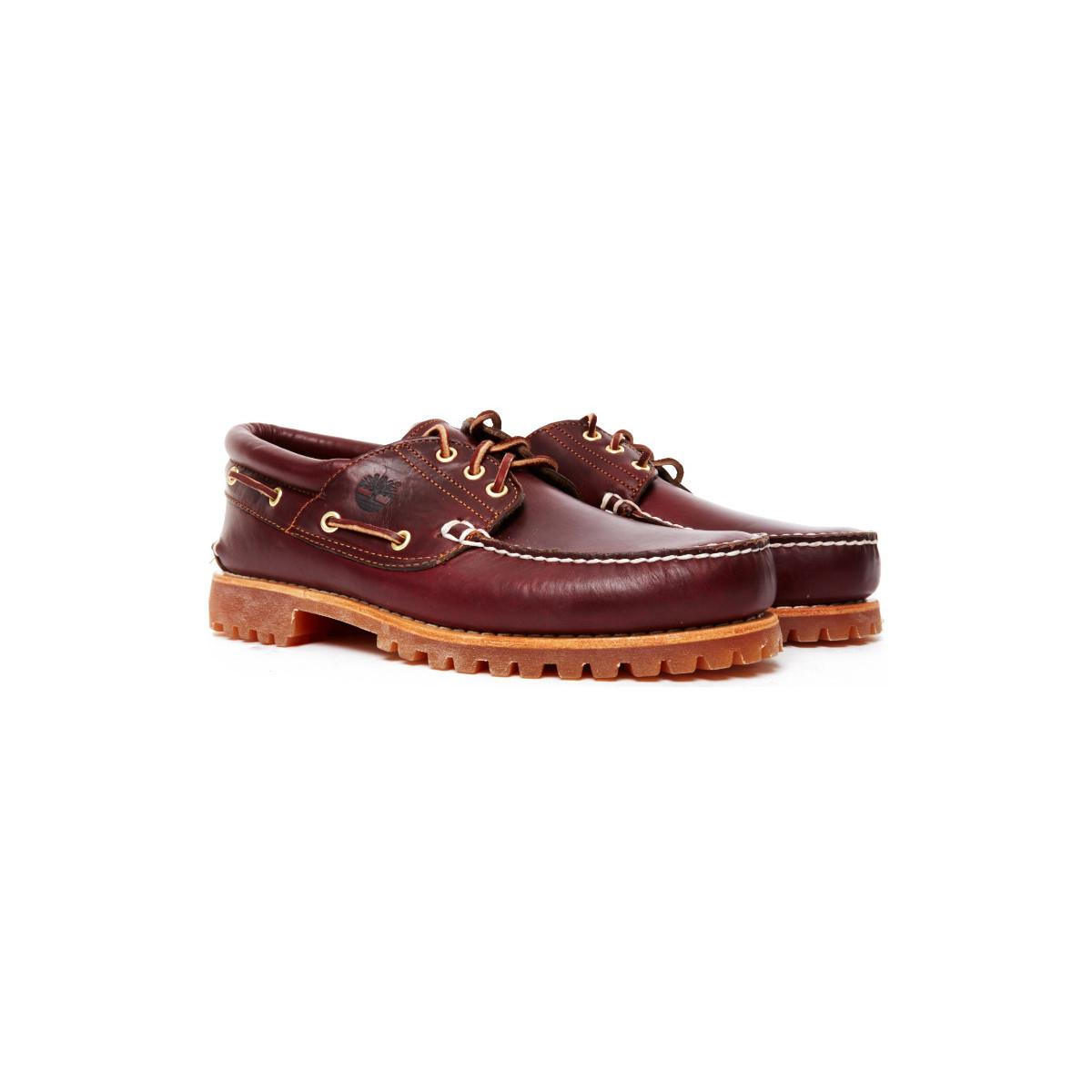 new style 6b5d1 889e8 Authentics In 3 Shoes Boat Burgundy Lug Classic Mens Eye Timberland  dBqSWznFHd