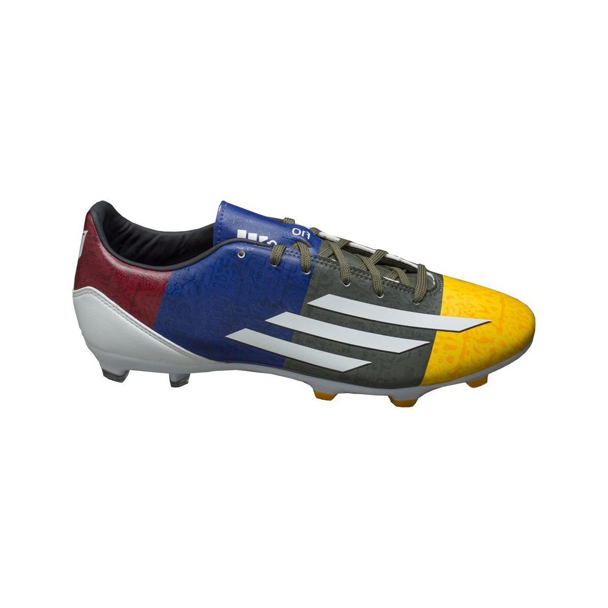 Adidas F10 Fg Messi Men s Football Boots In Multicolour in Blue for ... b2e593a817b
