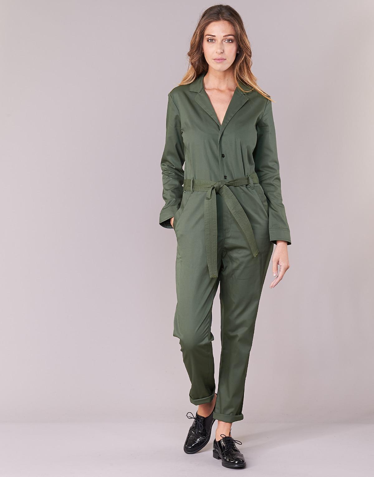 b3a3aff30ef Lyst - DELINE JUMPSUIT WMN L S femmes Combinaisons en vert G-Star RAW en  coloris Vert - 25 % de réduction