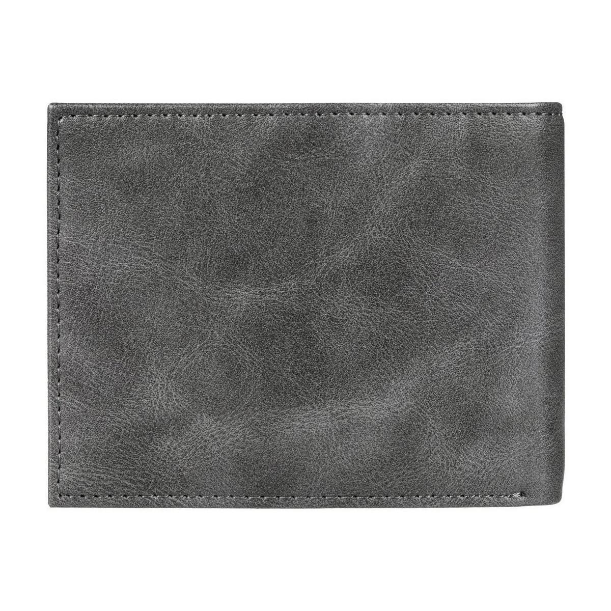 1a9a6299b Quiksilver Cartera Casual Hombre Stitch Men's Purse Wallet In Grey ...