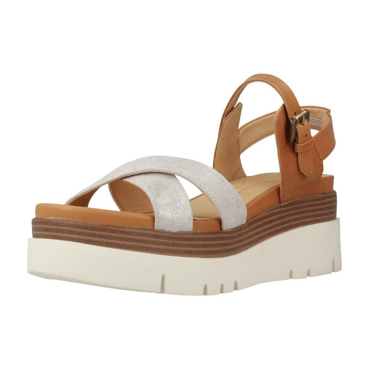 f0925888eb0 Geox D Radwa Women s Sandals In Brown in Brown - Lyst
