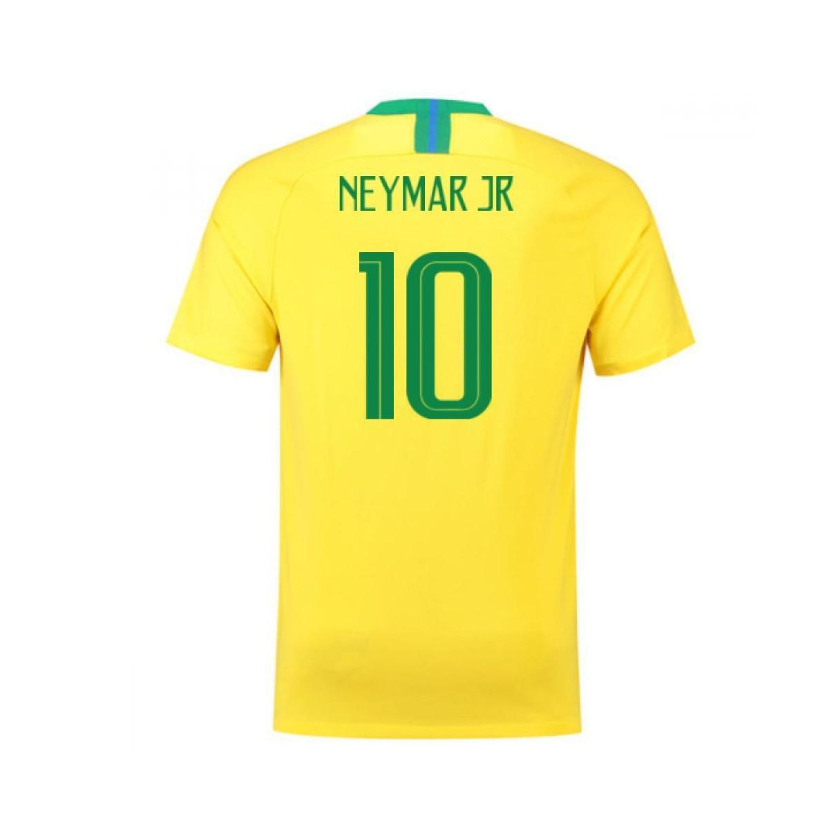 83f7c9d75 Brazil National Team Nike 2018 Home Replica Stadium Custom Jersey – Gold.  Gallery