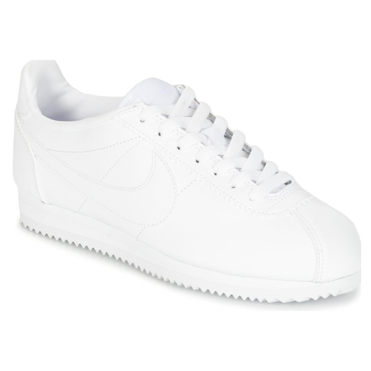 5ba2a01483 Nike Classic Cortez Leather W Women s Shoes (trainers) In White in ...