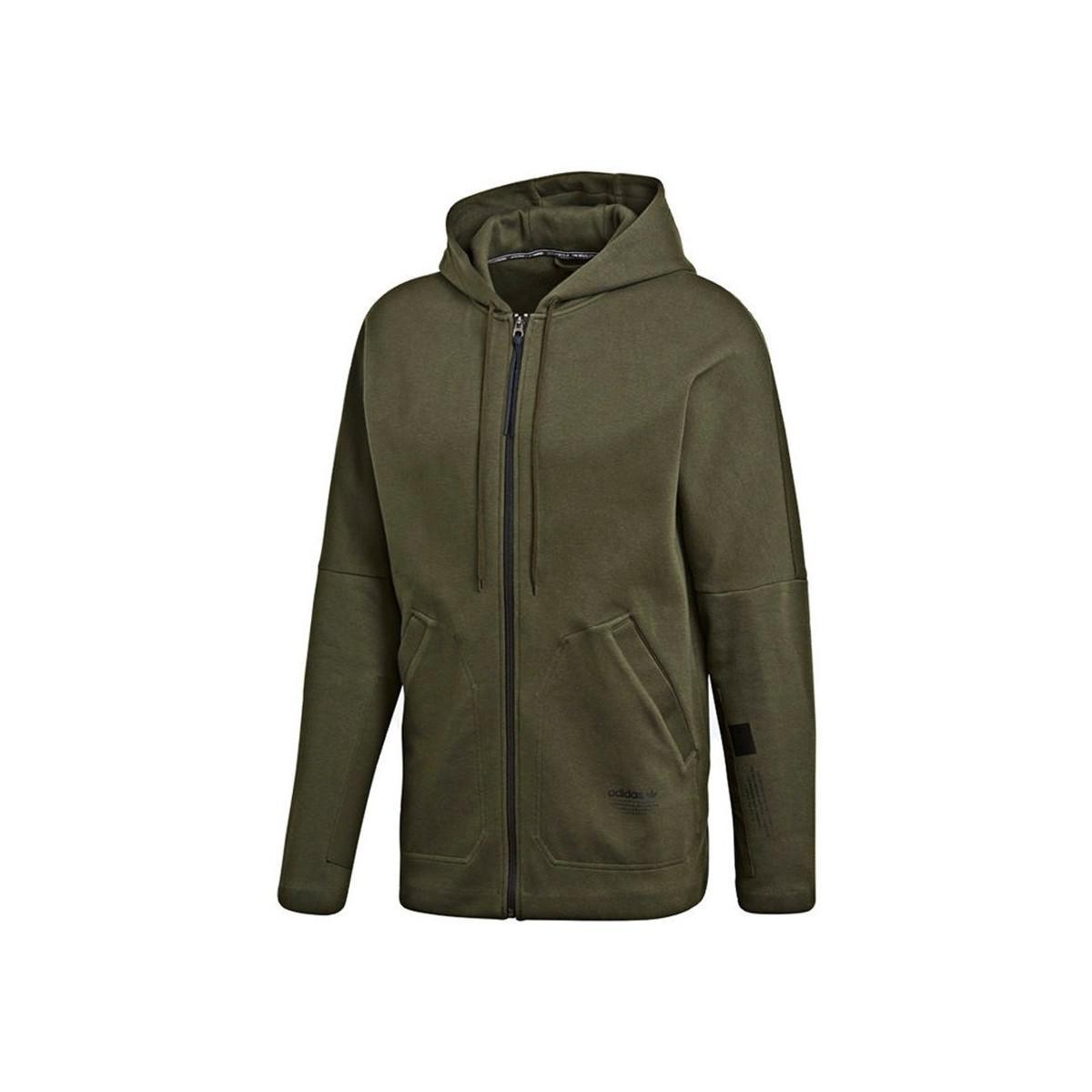 f83a99ef8772 adidas Originals Nmd Pullover Hoodie Men s Sweatshirt In Green in ...