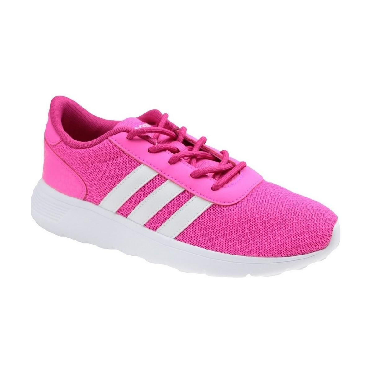 Adidas Lite Racer W Women s Shoes (trainers) In Pink in Pink - Lyst 418a5f982