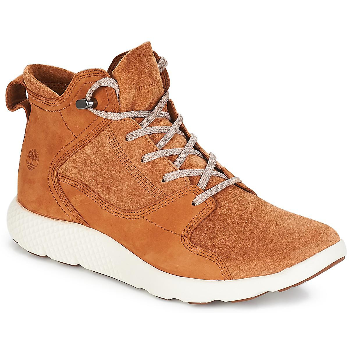 Timberland Flyroam Leather Hiker Shoes (high-top Trainers) in Brown ... 2417383294