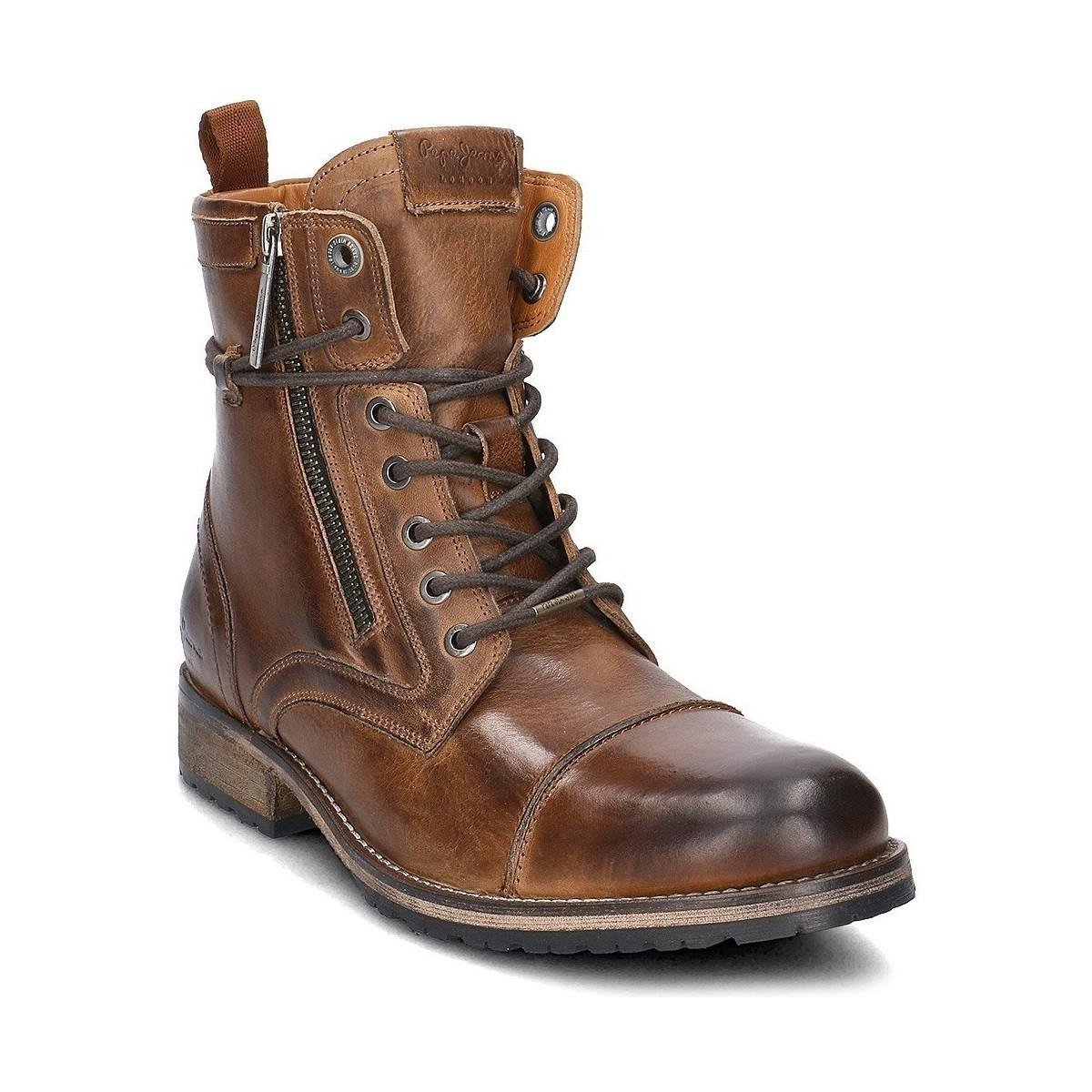 Lyst Pepe Jeans Melting Zipper New Men S Mid Boots In