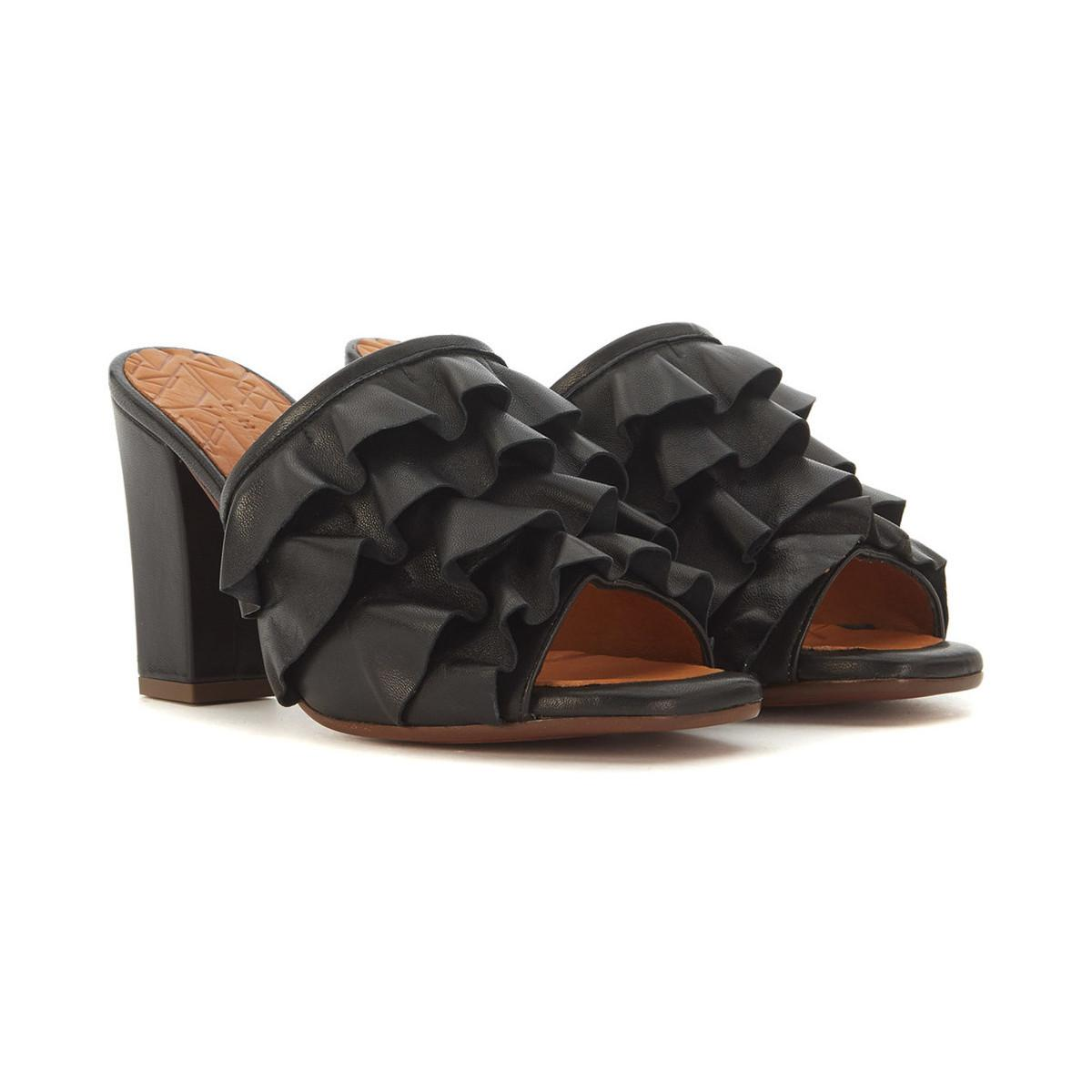 Chie Mihara Aikiki Black Leather Sabot From China Low Shipping Fee Buy Cheap Latest Collections MwP1C