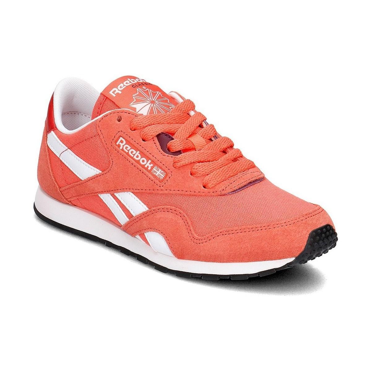 8357aee312ba Reebok Classic Nylon Slim Women s Shoes (trainers) In Orange in ...