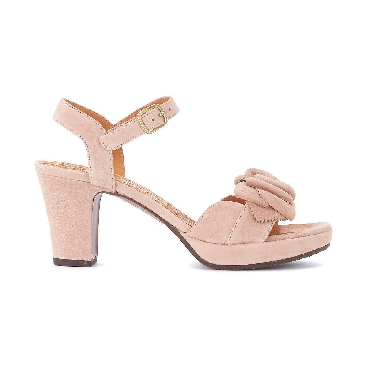 Inexpensive Sale Online Chie Mihara Blossom nude suede heeled sandal with flower women's Sandals in Recommend Cheap Online Extremely Online 2018 Newest Sale Online ZwfbKKxcq