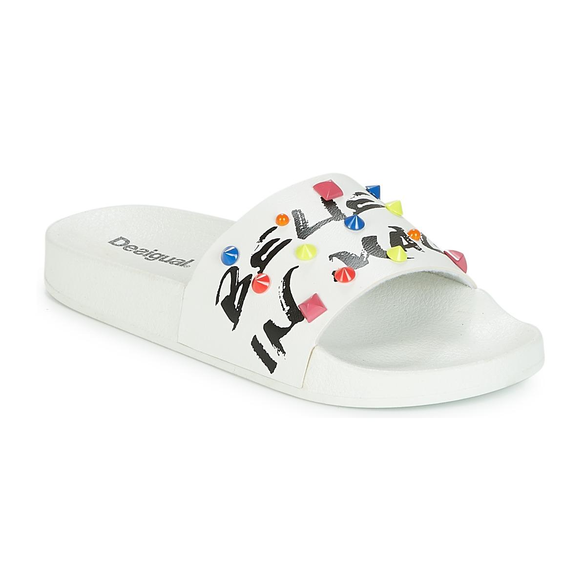 4076277a59e749 Desigual Slide-candy Women s In White in White for Men - Lyst