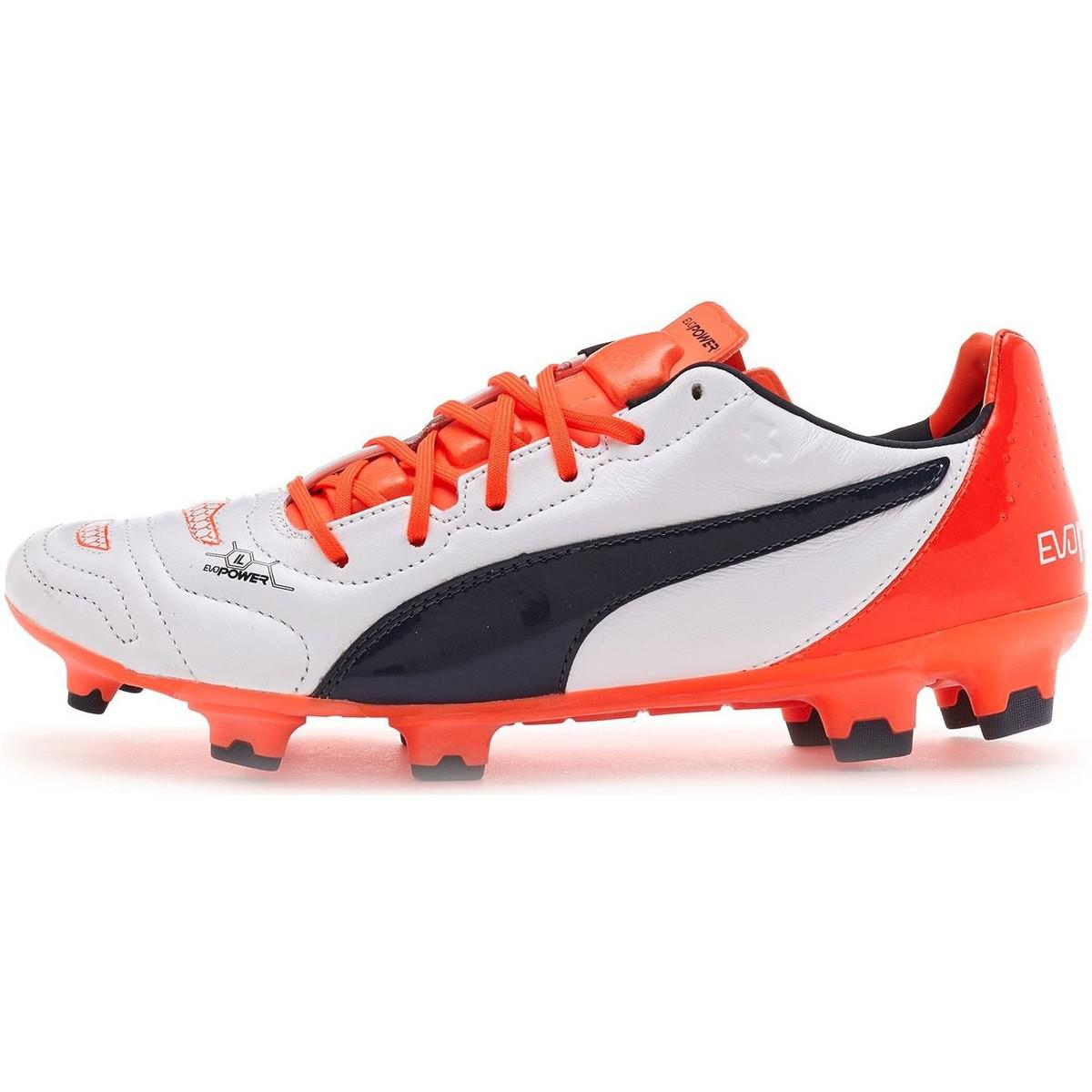 7c8dd84033a Puma Evopower 1.2 Football Boots Soccer Cleats In White Orange 103 ...