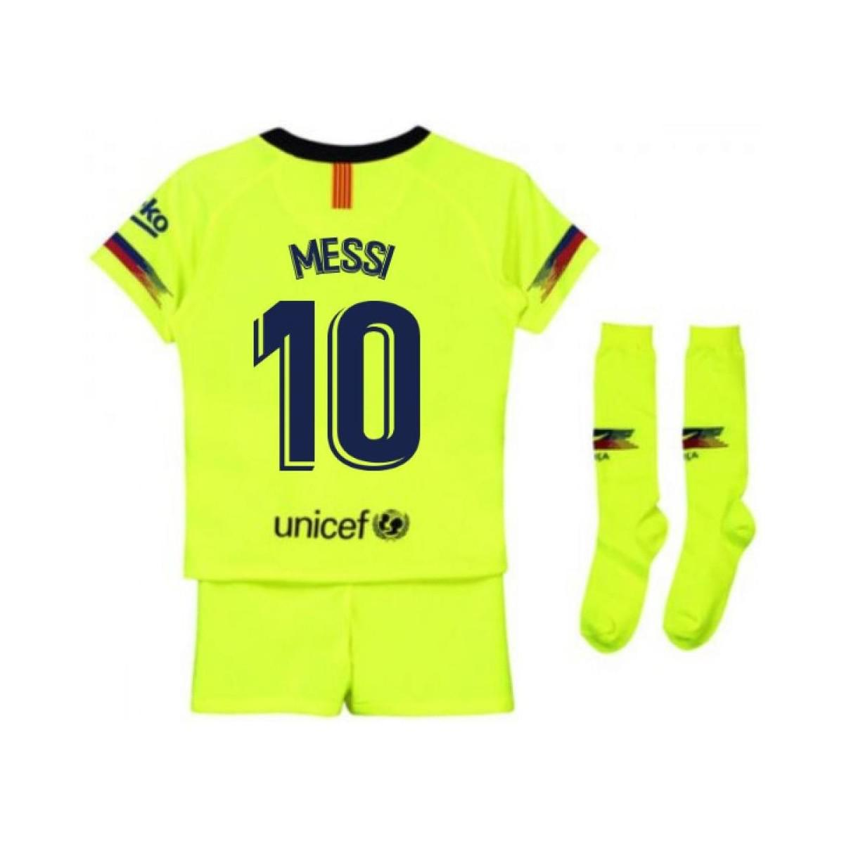 db86577ea5c Nike 2018-2019 Barcelona Away Little Boys Mini Kit (messi 10) Men s ...