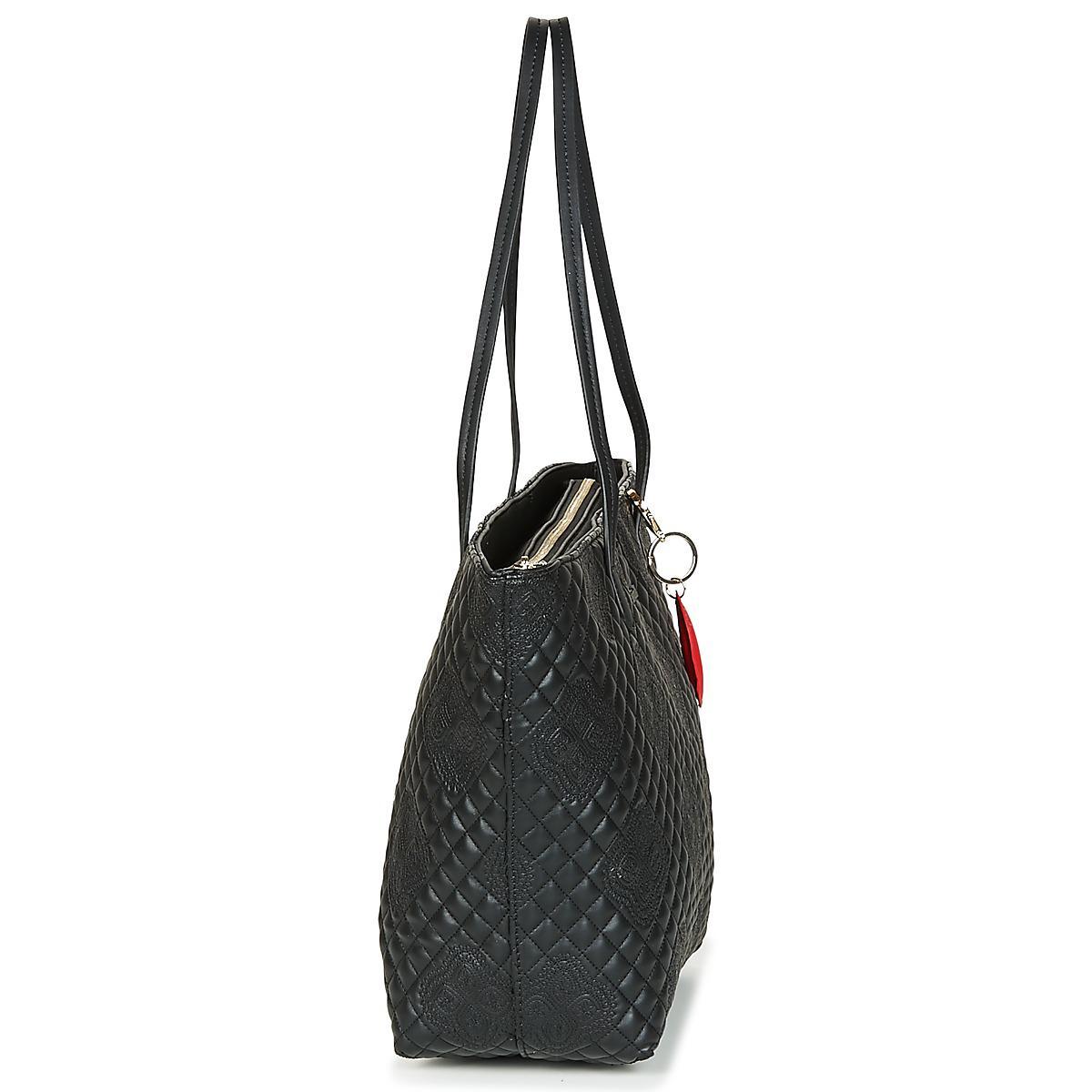a25c8cf40 Bols Claudia In Zipper Capri Shopper Desigual Black Women's Bag 8nNOm0vw