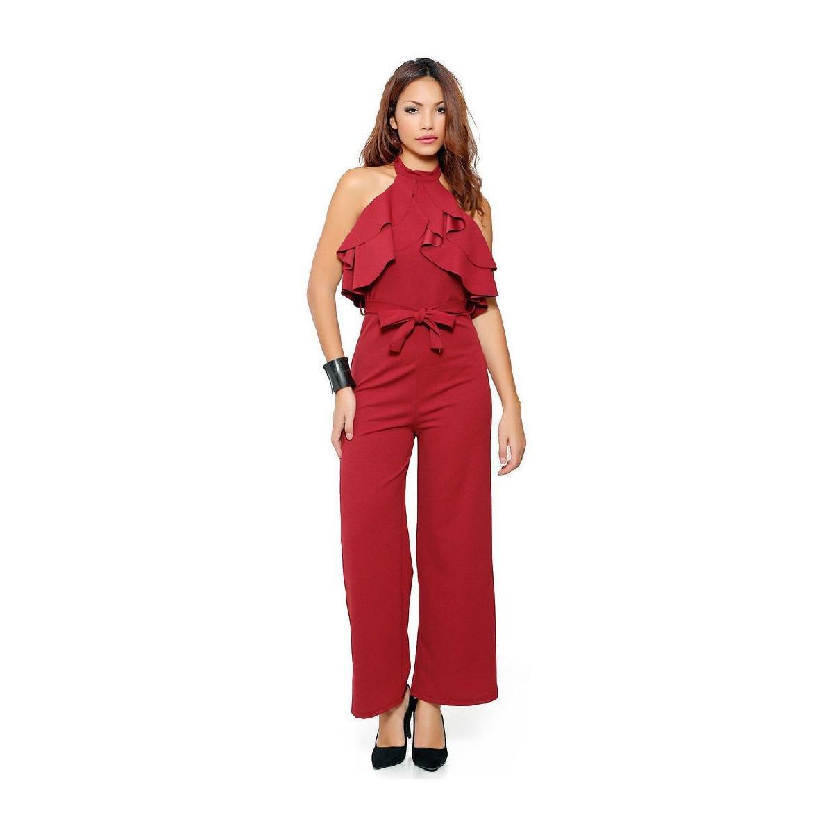 edea6ecb66e Infinie Passion Burgundy Jumpsuit 00w060883 Women s Jumpsuit In Red ...