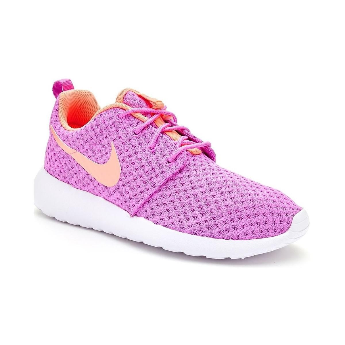 635b8b235c32 Nike Roshe Run One Br Women Trainers In Fuchsia Glow Lava Glow 724 ...
