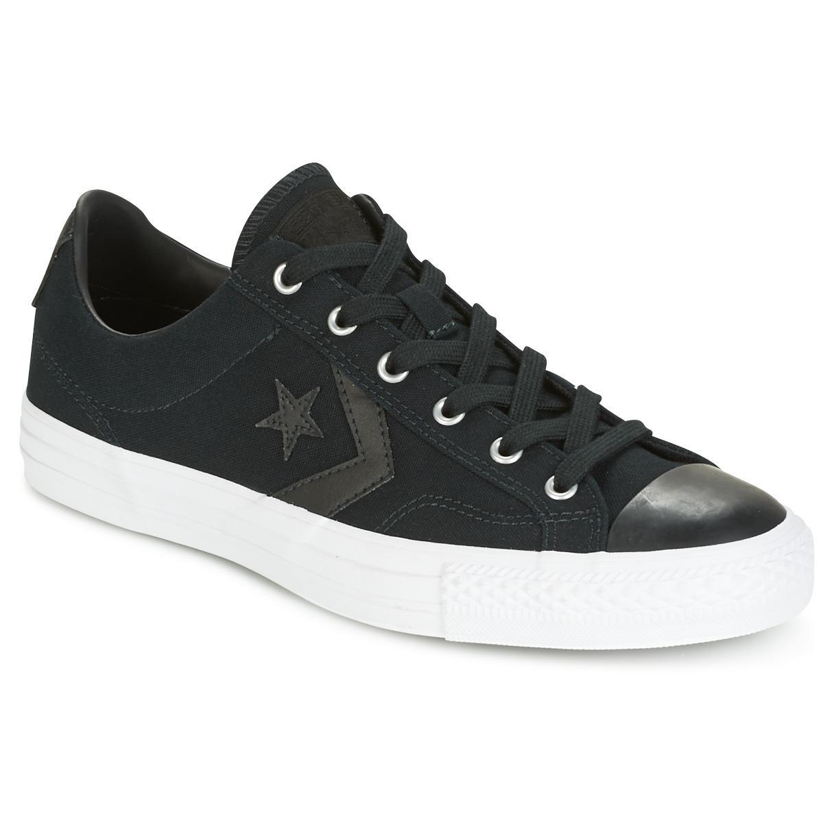 a64e80cde60 Converse. Star Player Canvas With Gum Ox Black black white Men s ...