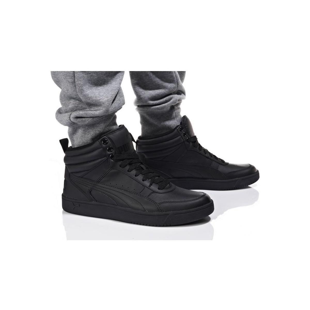 Street Top Puma V2 L Men's Shoeshigh Rebound TrainersIn Black EDH29WI