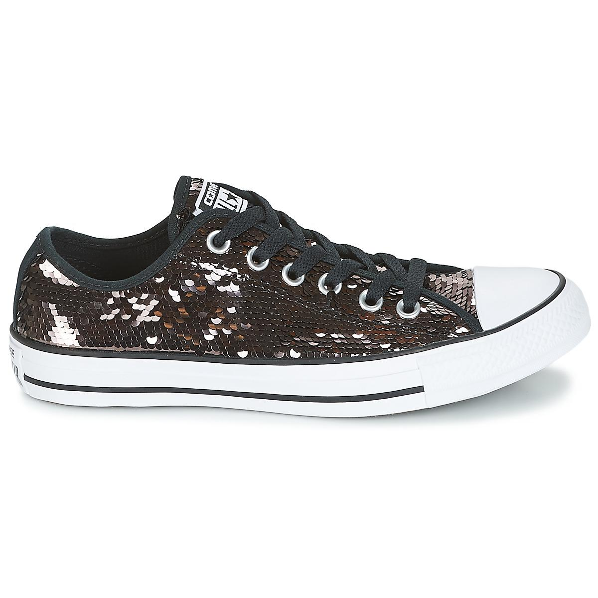 2d9cd45d4fd Converse Chuck Taylor All Star Sequins Ox Gunmetal white black ...