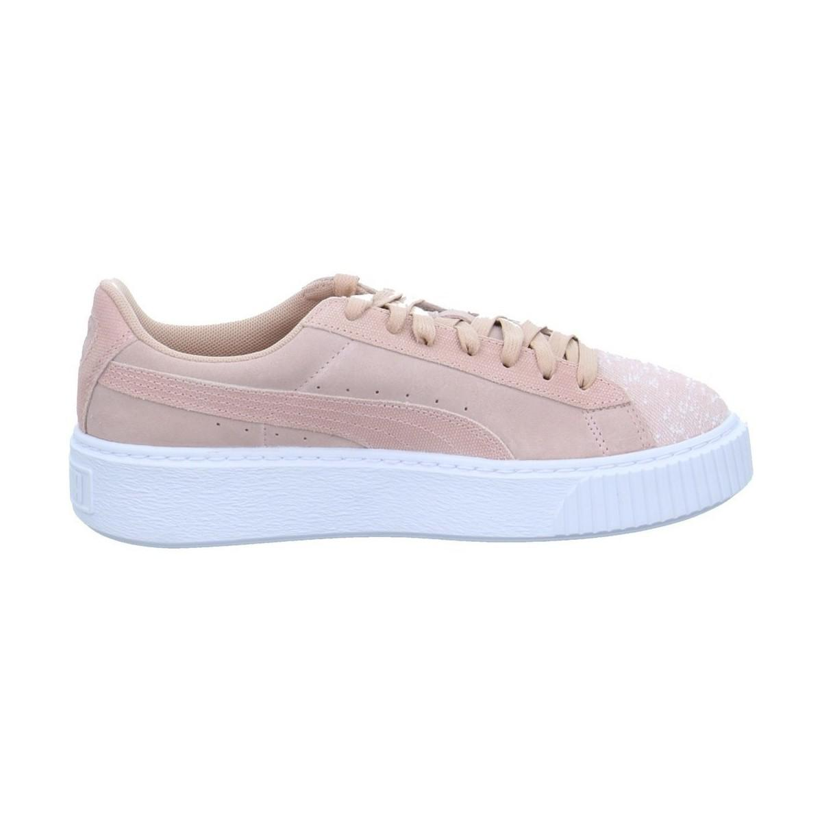 new style 4af85 47cf4 PUMA Suede Platform Pebble Women's In Multicolour - Lyst