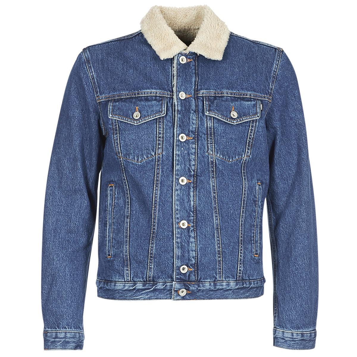 facca3306eaf4 DIESEL D Gioc Fur Men s Jacket In Blue in Blue for Men - Save 13% - Lyst