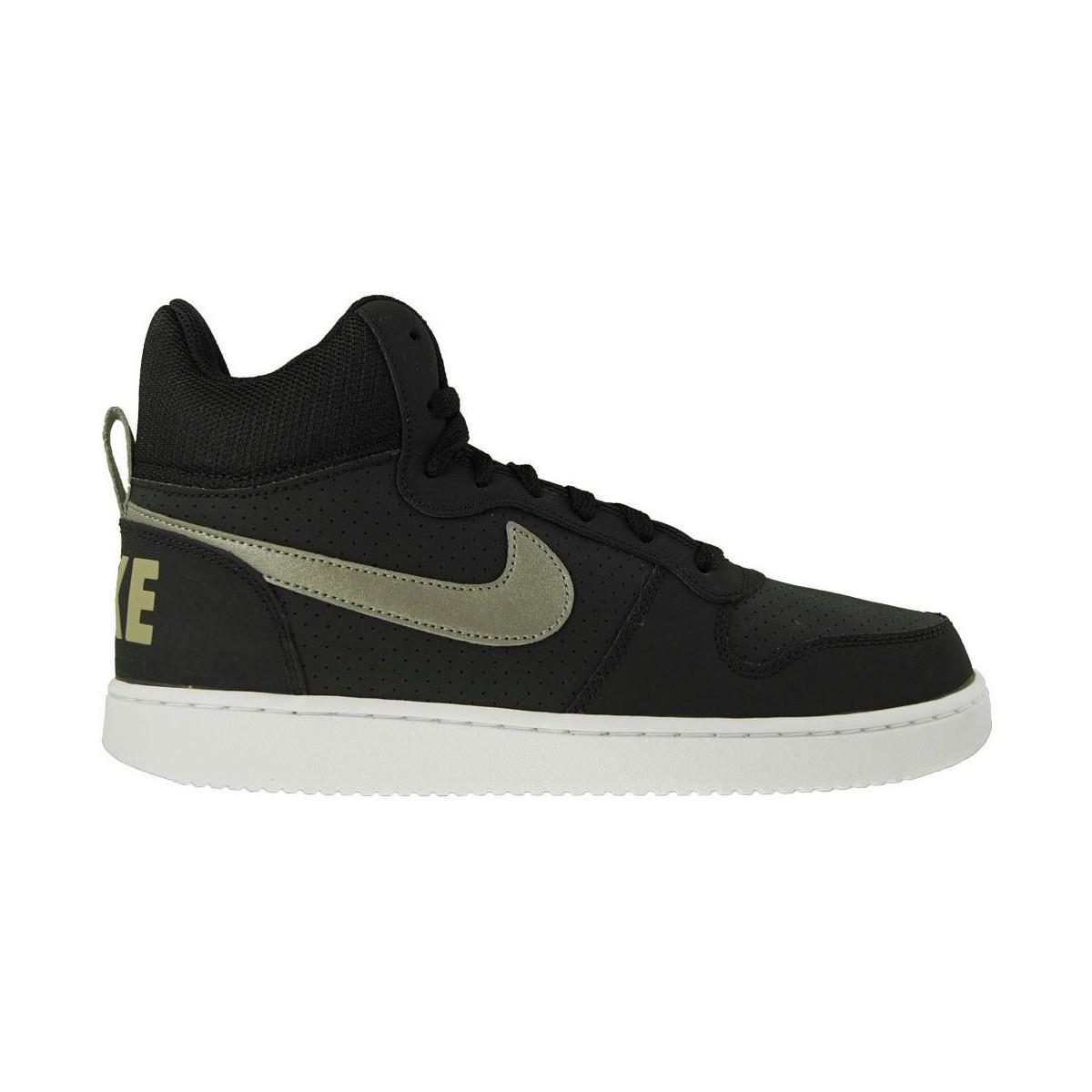 lyst nike court borough mid men 39 s shoes high top trainers in white in white for men. Black Bedroom Furniture Sets. Home Design Ideas