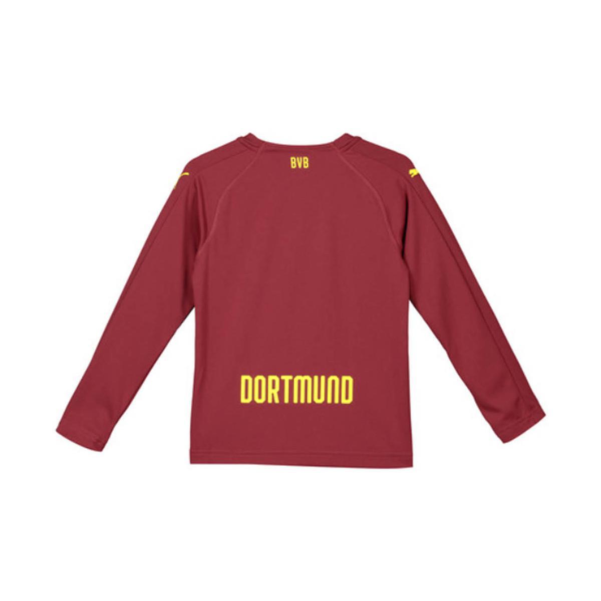 3641813d0d8 PUMA 2018-2019 Borussia Dortmund Away Goalkeeper Shirt Pomegranate ...