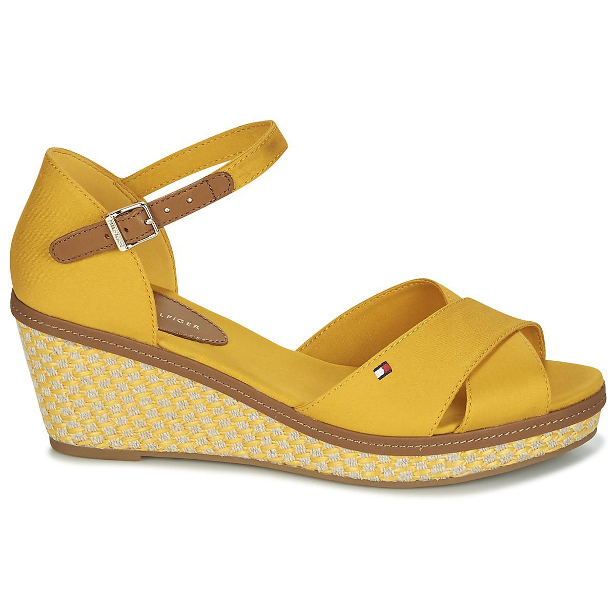 2afc224c1d02d8 Tommy Hilfiger Iconic Elba Sandal Basic Sandals in Yellow - Lyst